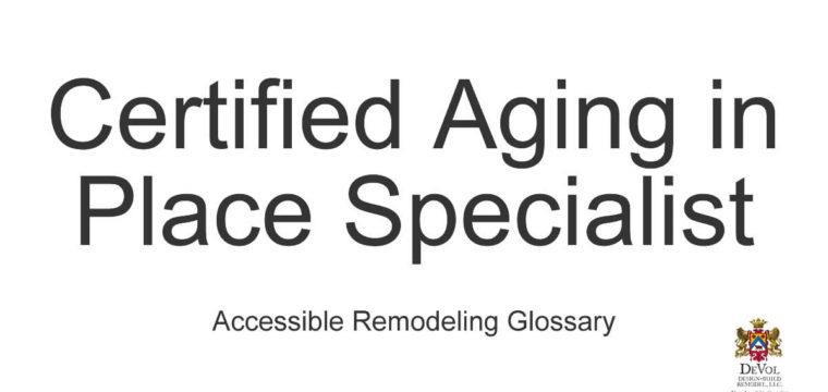 CAPS – Certified Aging in Place Specialist