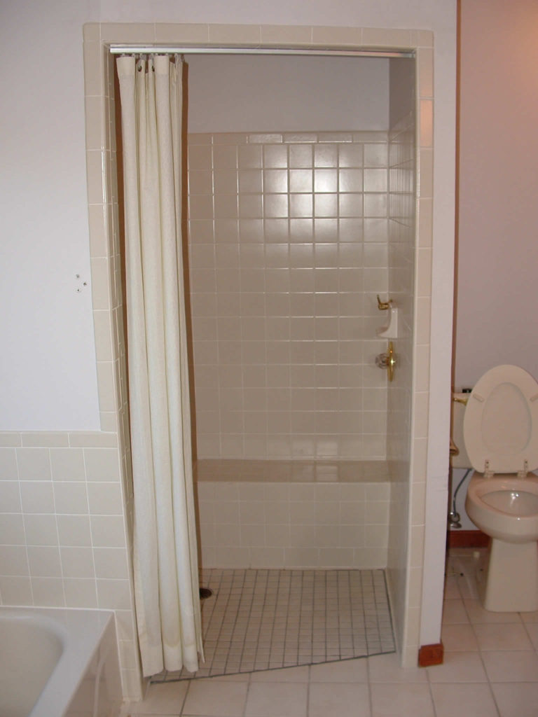 Existing shower (replaced)